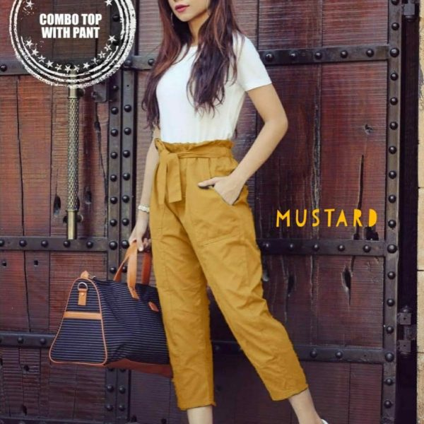 Tee-with-Knotted-Pant-Combo