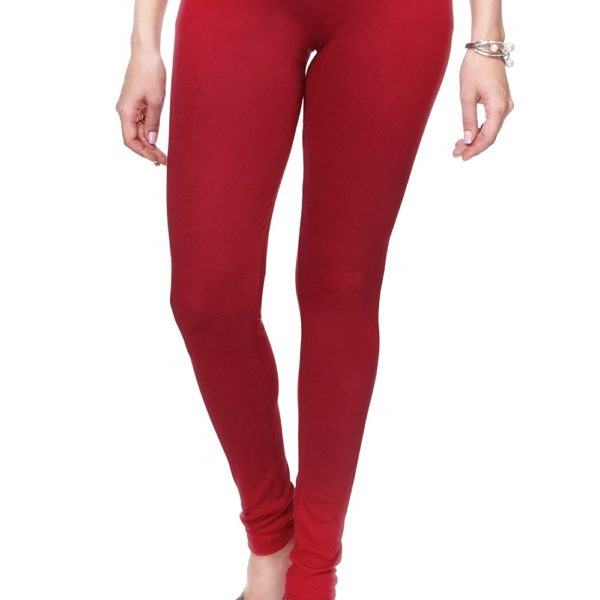 Red Color Lycra Leggings By Pour Femme India