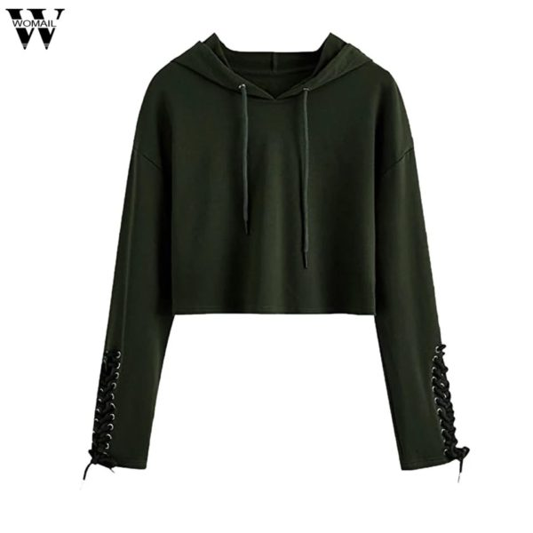 POUR FEMME Olive Green Sweatshirts for Girls & Women