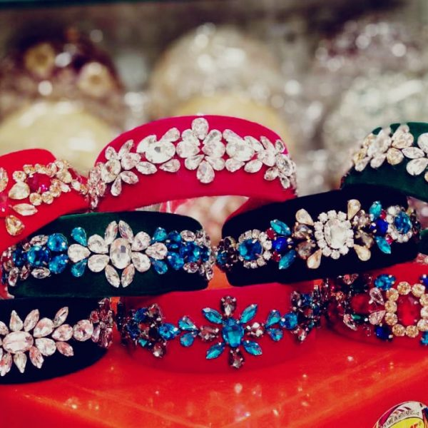 POUR FEMME Premium Quality Special Customised Stone Work Hairband0134A