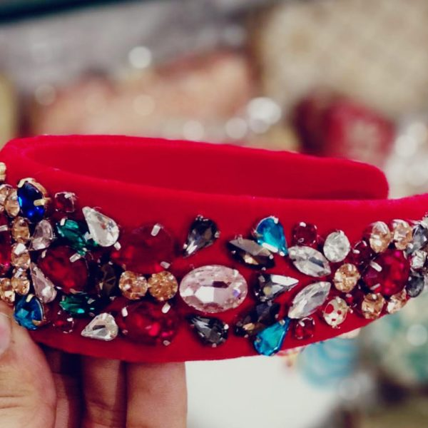 POUR FEMME Premium Quality Special Customised Stone Work Hairband0136