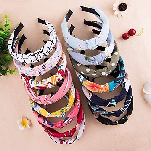 POUR FEMEM 1 Twisted Fabric Criss Cross Knot Plastic Hairband (Any color)0158