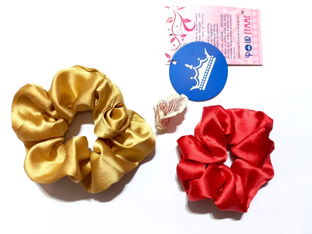 Pack of Two hair scrunchies